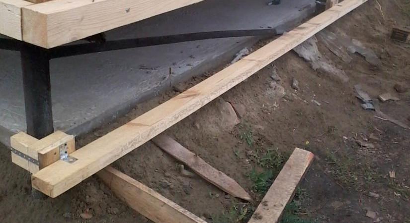 Деревянный каркас под облицовку