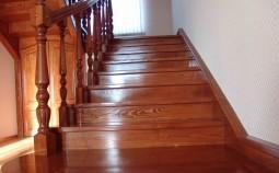 Правильный выбор и покрытие лаком лестницы из дерева