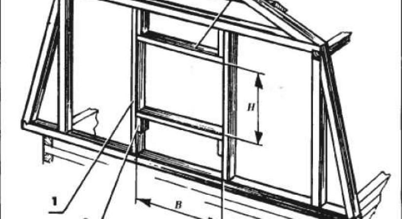 Трапецевидный фронтон каркасного дома