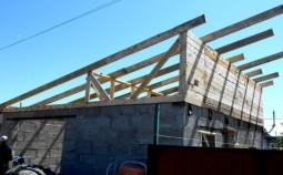 Конструкция стропильной системы односкатной крыши