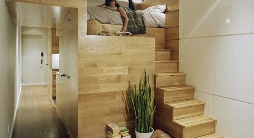 Компактная лестница на второй уровень