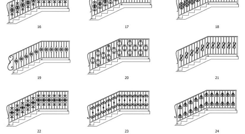 эскиз кованой лестниц