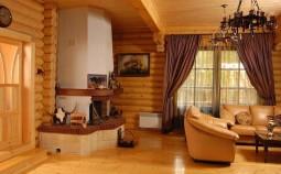 Особенности внутренней отделки домов из дерева