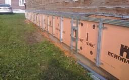 Технология утепления цоколя наружным и внутренним методом