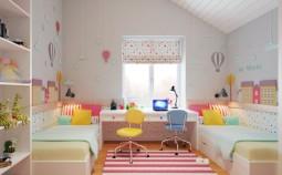 Одна детская комната для двух детей: варианты разделения пространства