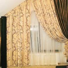 Оформление мансардных окон с помощью штор
