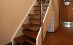 Лестница утиный шаг – экономим пространство