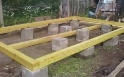Оптимальные варианты фундаментов для брусового дома