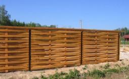 Забор плетенка из досок своими руками