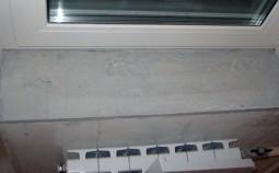 Изготовление подоконника из бетона своими руками
