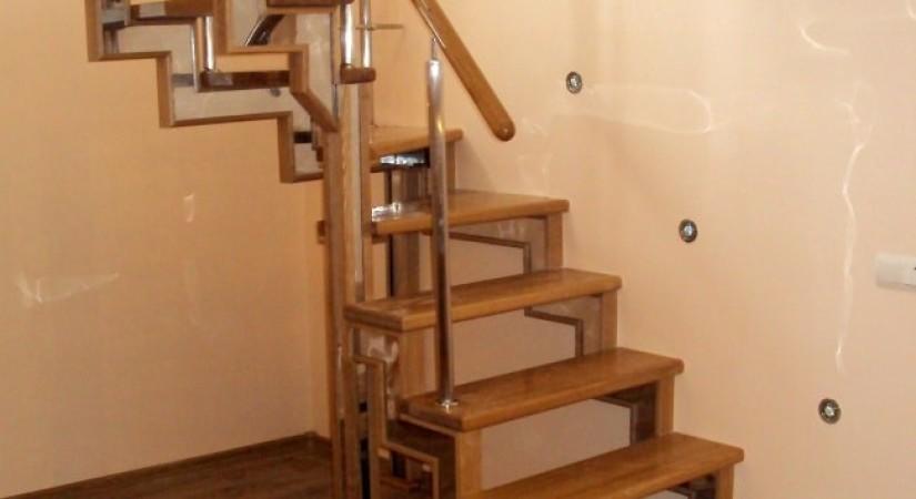 лестница металл дерево