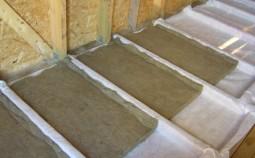 Правила утепления перекрытий минеральной ватой: 1-ый этаж и чердак