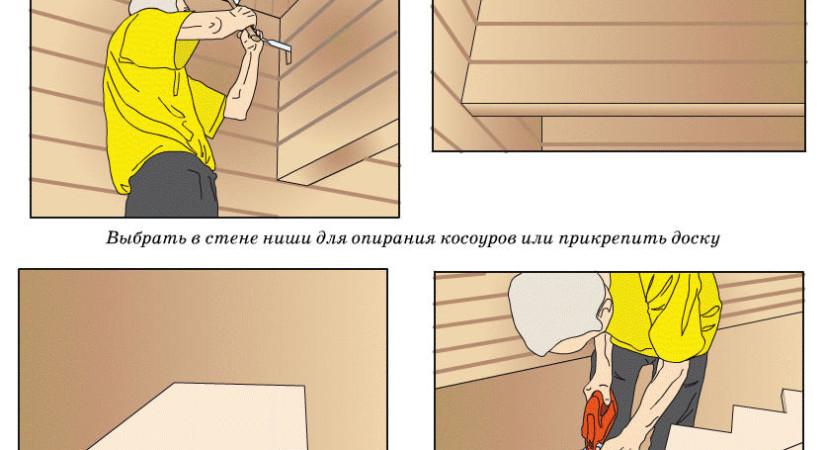 строительство лестницы