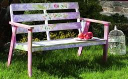 Скамейка для сада из подручных средств
