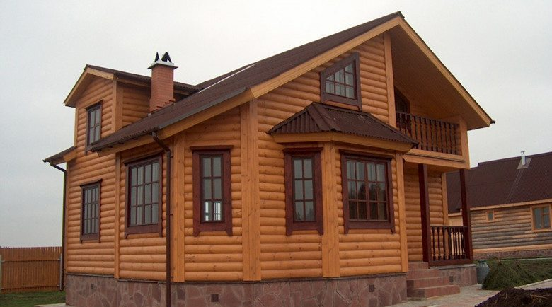 Фасад простого дачного дома
