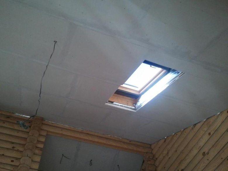 Потолки, подшитые гипсокартоном
