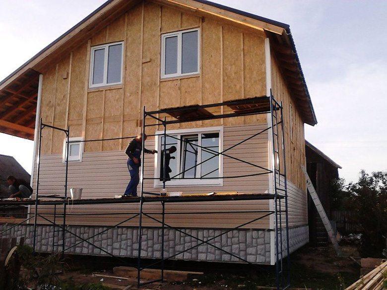 Облицовка фасада каркасного дома сайдингом