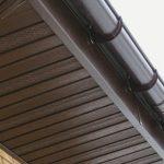 Подшитый карниз крыши