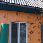 Стена дома, утепленная пеноплексом