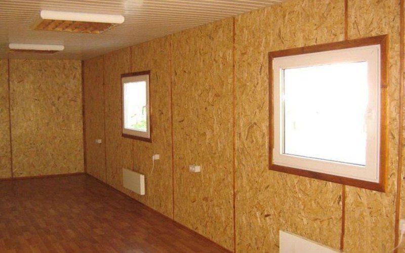 Подшивка стены дома из плит ОСБ