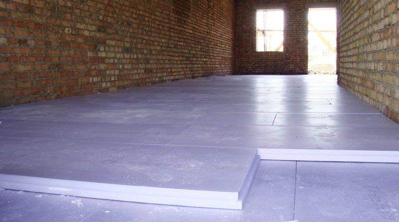 Пенопласт на пол под стяжку