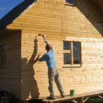 Деревянный дом, пропитанный защитными составами