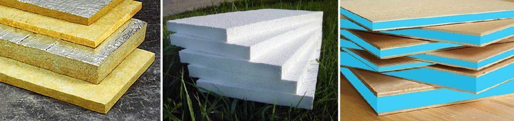 Виды теплоизолятора для стен из бруса