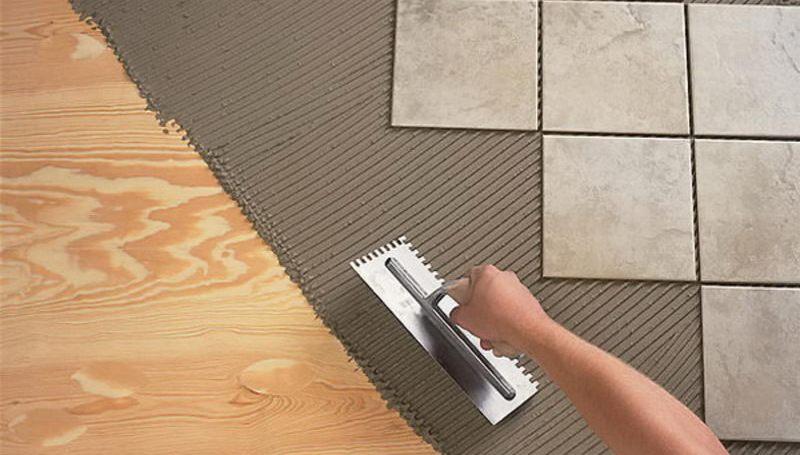 Как положить плитку на деревянный пол (можно ли   технология укладки)