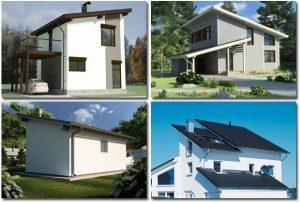 Дома с односкатной крышей