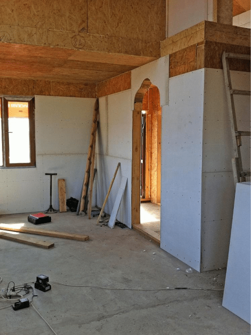 Внутренняя отделка домов из сип панелей своими руками 45