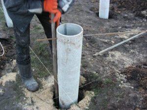 Свайный фундамент из асбестовых труб своими руками