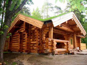 Экологичный рубленный дом