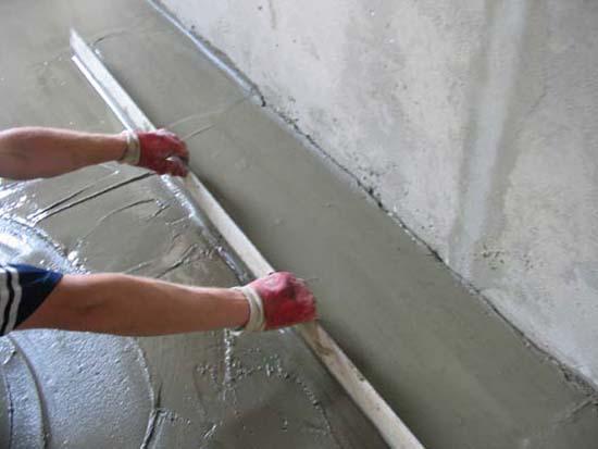 Устройство цементно-песчаной стяжки
