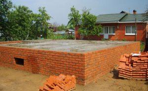 Строительство основания из кирпича