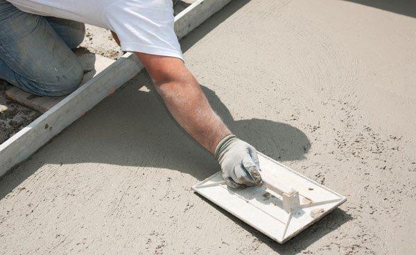 Сухое железнение бетона