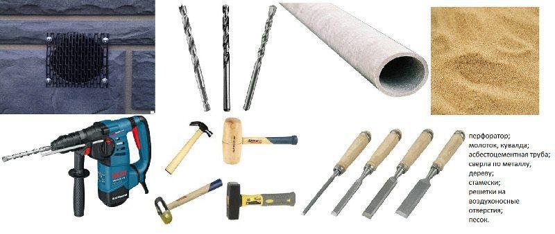 Инструменты для отдушин в фундаменте