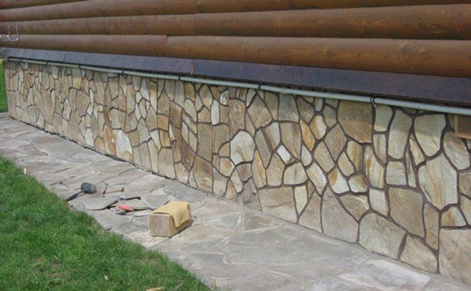 Облицовка конструкции натуральным камнем
