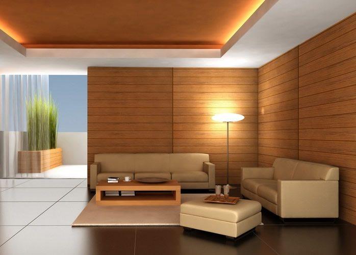 Комната с деревянными стенами