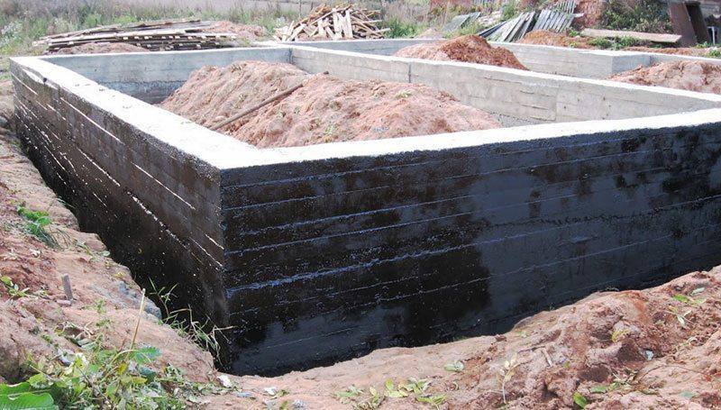 Гидроизоляция ленточного фундамента деревянного дома мастика водно-дисперсионная