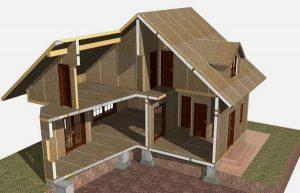 Дом-каркасно-щитовой