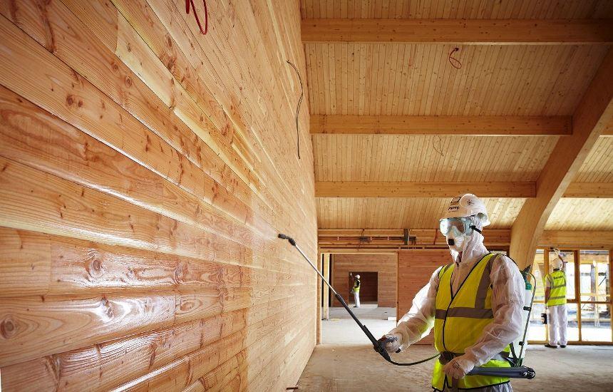 Обработка деревянного дома противогрибковыми составами