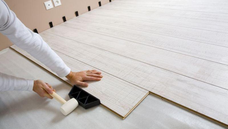 Укладка ламинат на деревянный пол