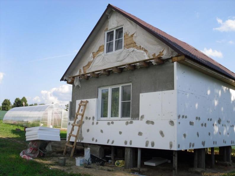 Утеплитель пенопласт для стен дома снаружи под сайдинг