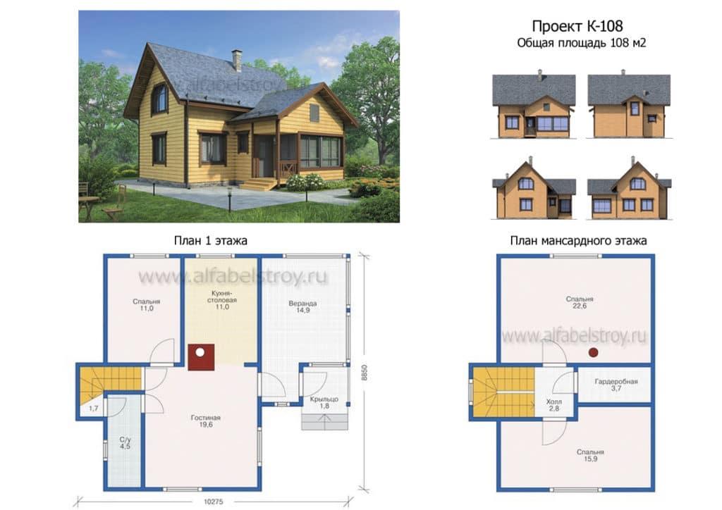 Пример эскизного типового проекта дома