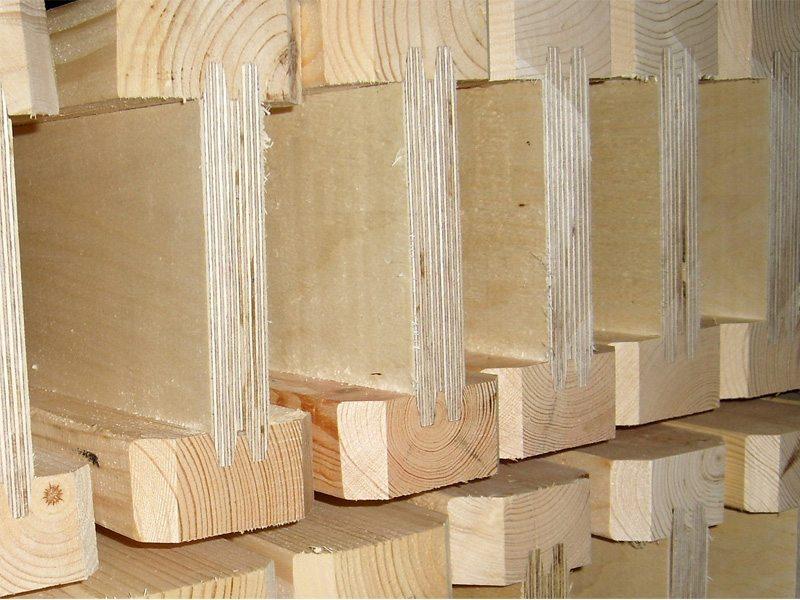 Двутавровая балка из дерева