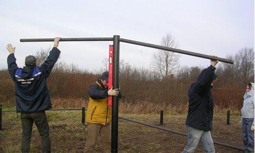 Контроль вертикальности стержня