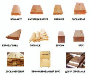 Варианты отделочных материалов