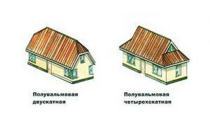 Двускатная и четырехскатная конструкция