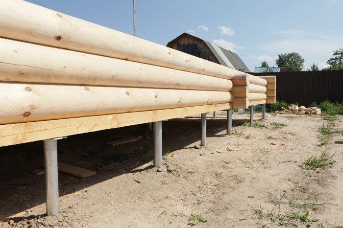 Основание под деревянный дом