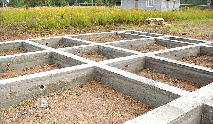 Ленточный фундамент для домика из бруса